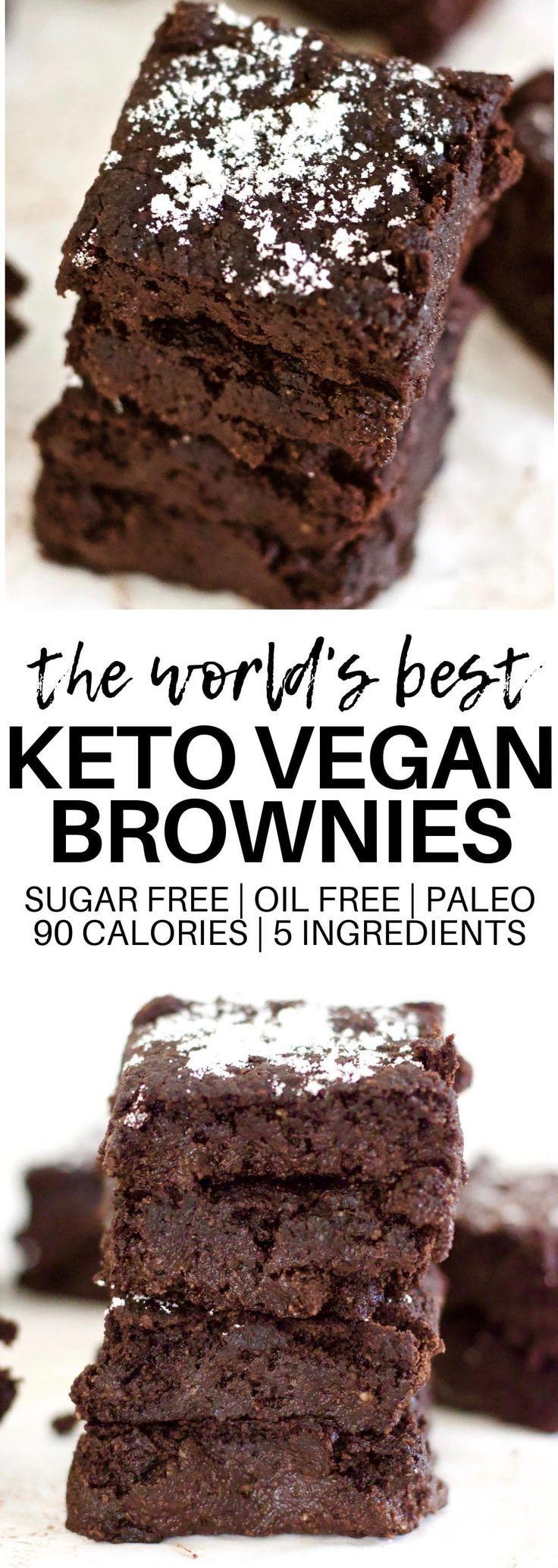 Ooey Gooey Keto Vegan Brownies (Paleo + Sugar-Free)