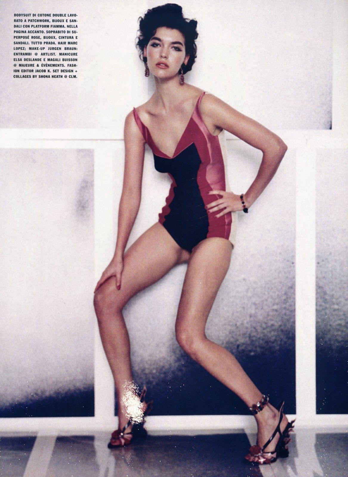 Editorial for Vogue Italia de Paolo Roversi con Arizona Muse