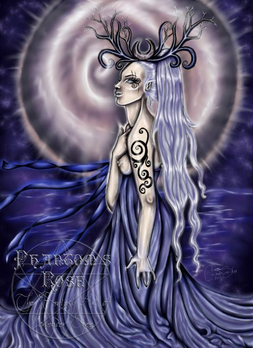 """Aeranelii's River"" Minor Arcana The Sidhe Queen Oracle -    PHANTOM'S  ROSE: the Fantasy Faery WORLD  of  Coriander Shea ©Coriander Shea Detwiler."