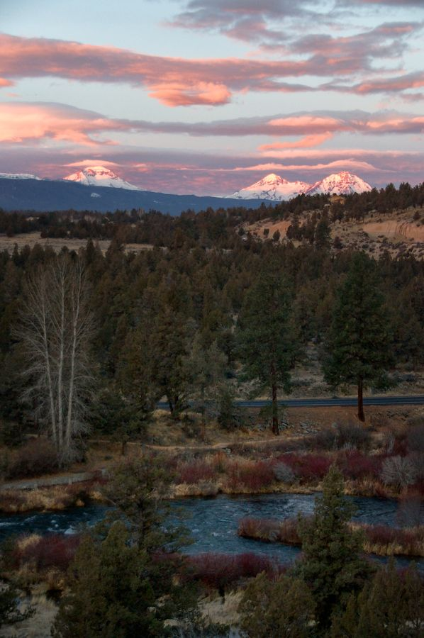 Deschutes River and the Three Sisters #landscape #travel