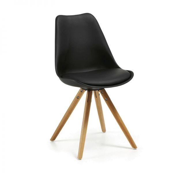 Silla Ralf Wood, color negro · 79€