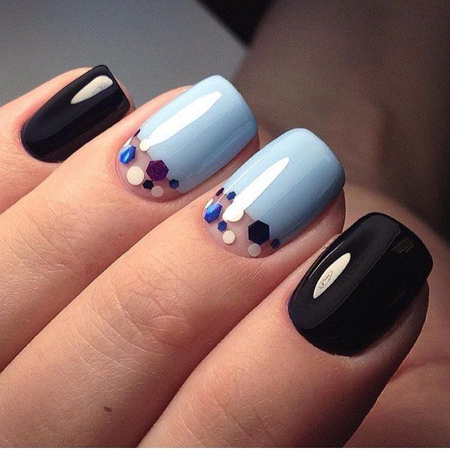 Baby blue and black nails pinterest baby blue babies and black prinsesfo Images