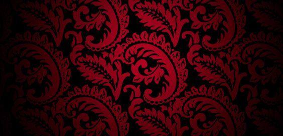 Victorian Wallpaper Pattern Red Trendy wallpaper