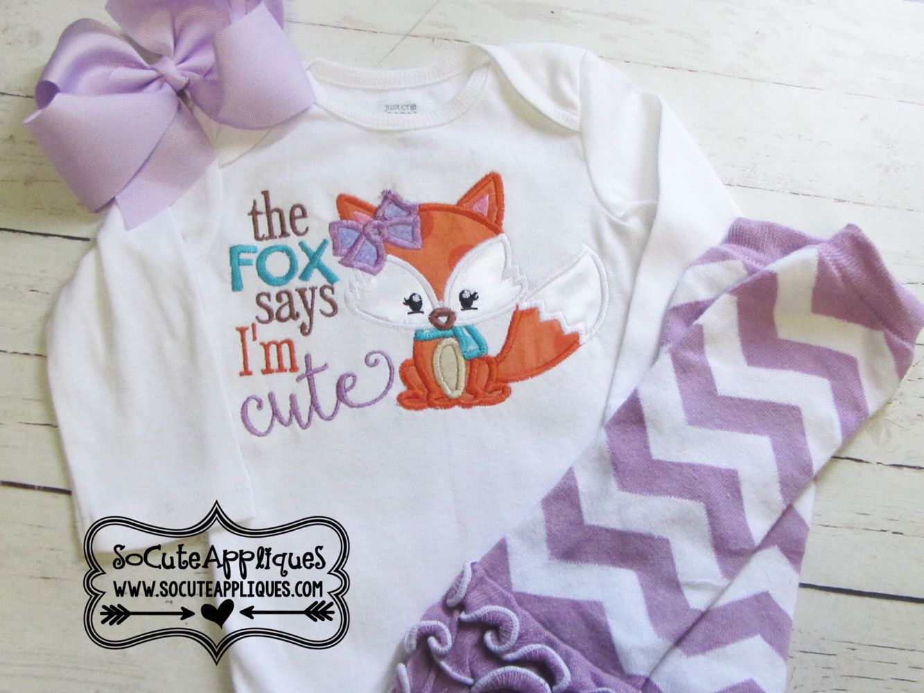 Embroidery design 5X7 6x10 The fox says I'm cute applique, Fall embroidery, Embroidery saying, fall applique, socuteappliques, foxy girl by SoCuteAppliques on Etsy https://www.etsy.com/transaction/1112359716