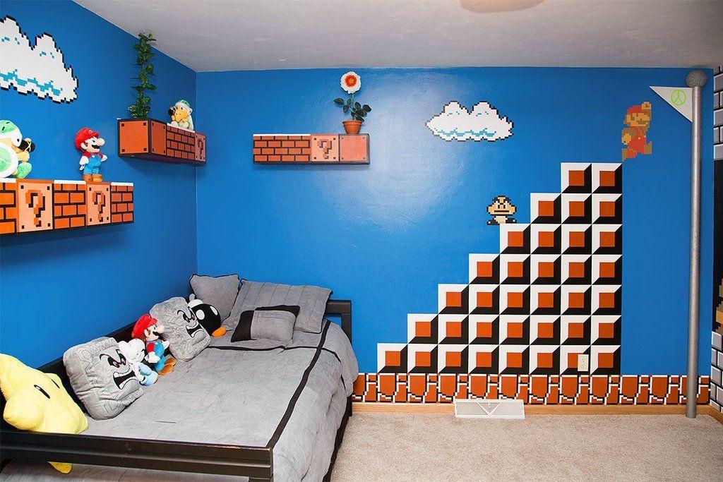 Ce papa crée une chambre Mario ultime pour sa fille ! Chambre