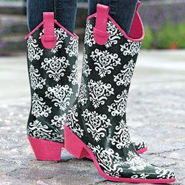 Cowgirl Rain Boots