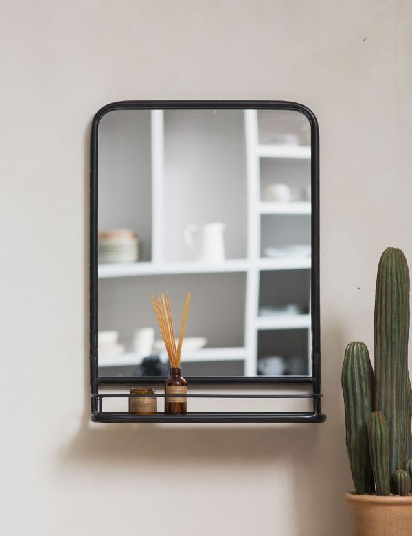 Large Industrial Mirror with Shelf | Industrial mirrors ...