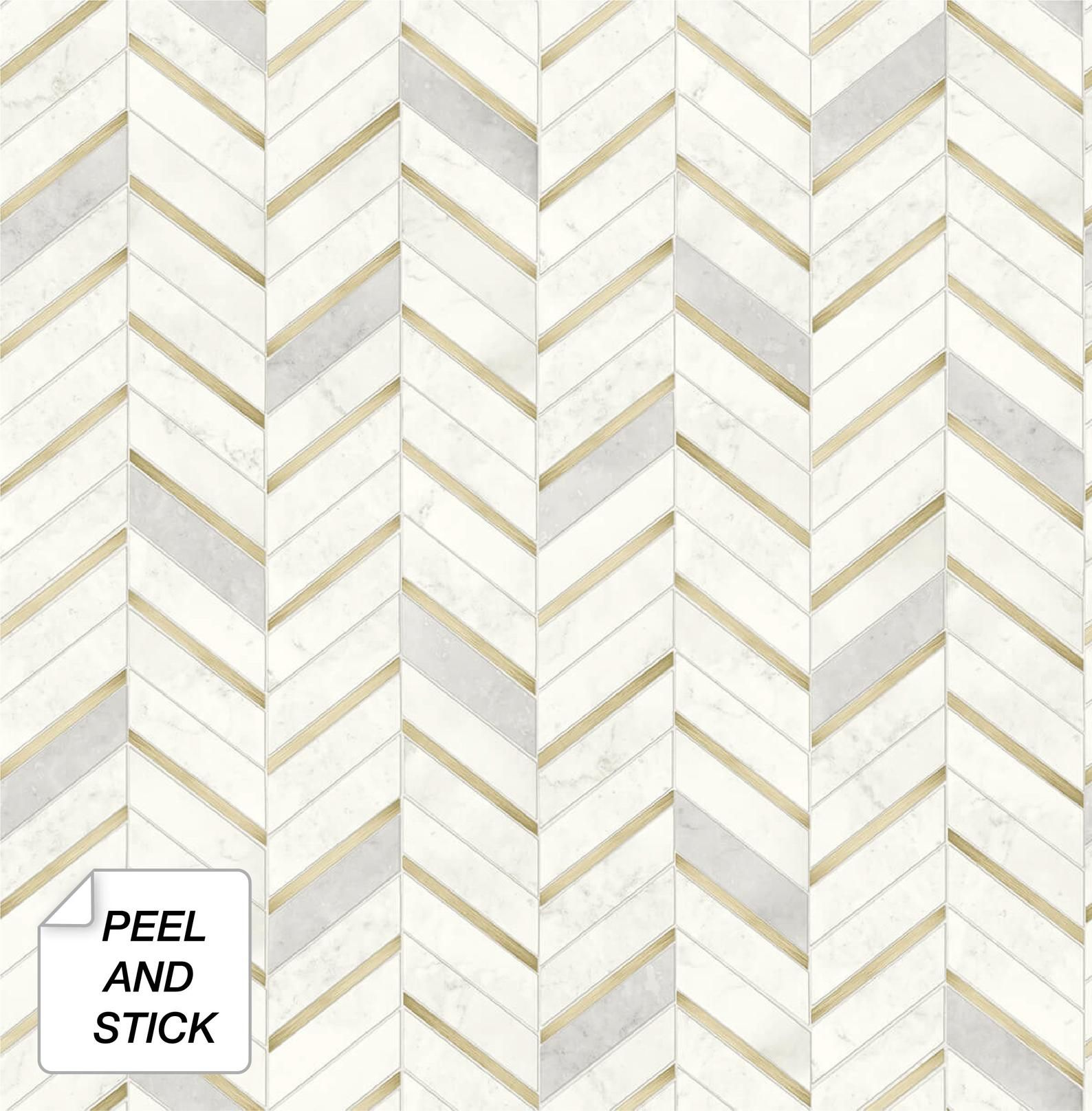 Peel And Stick Self Adhesive Wallpaper Wallpaper Tile Etsy Peel And Stick Wallpaper Chevron Tile Stick On Tiles