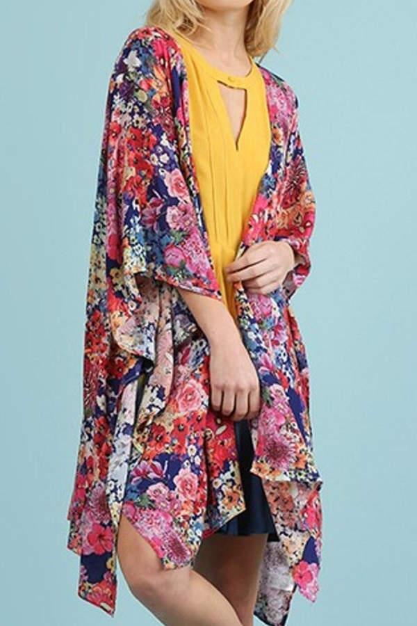 84e317206a6 Umgee USA Navy Floral Kimono