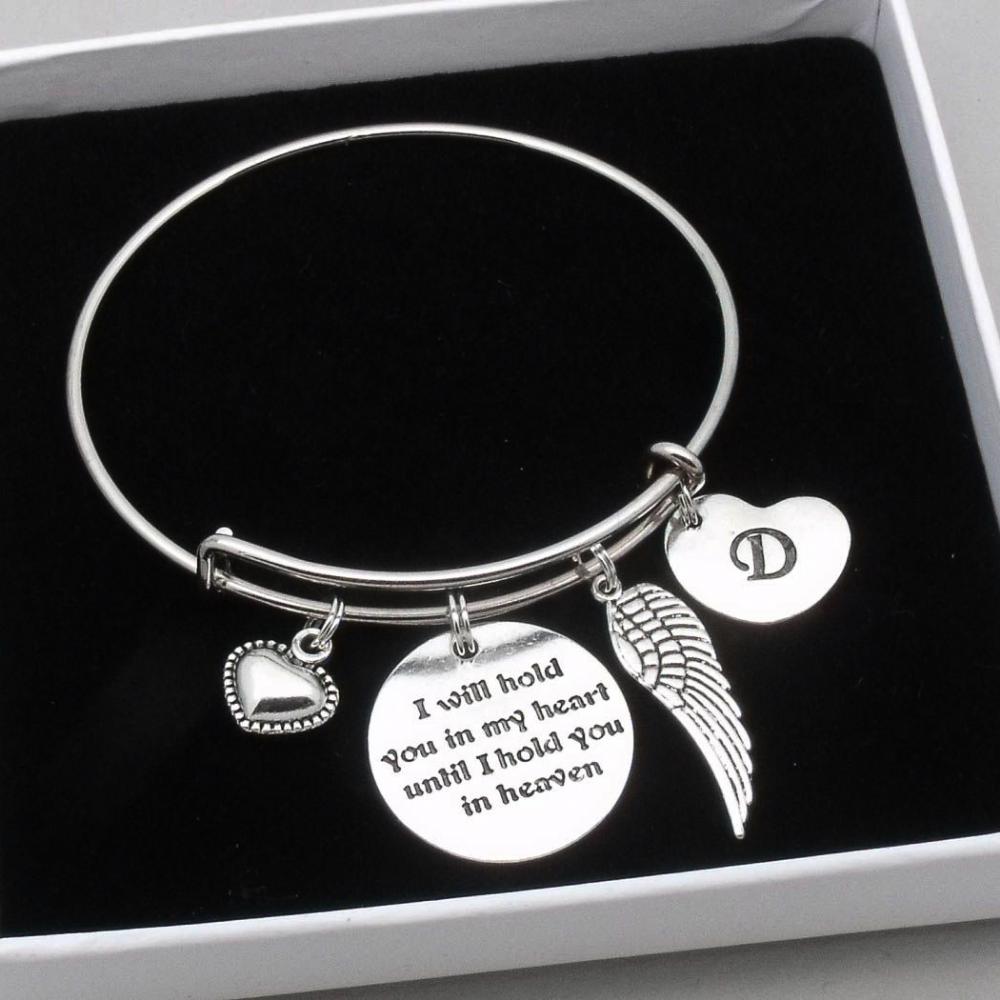 Memory Bangle Angel Bangle Angel Wings Bangle Memorial Bracelet Guardian Angel Jewellery Personalised Bangle Loved Ones Memory Bracelet