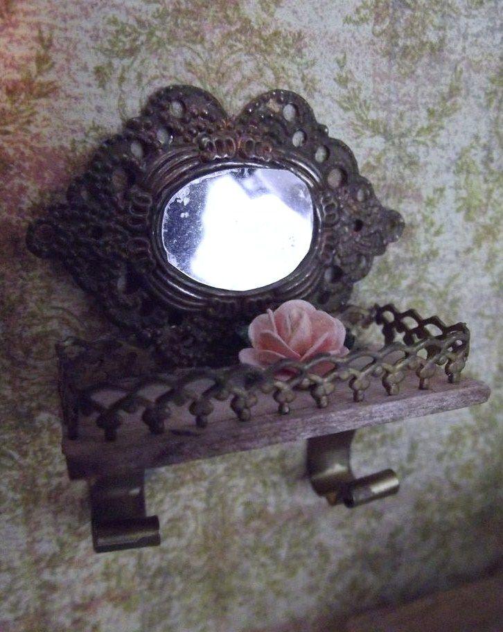Miniature Dollhouse Accessories Scene Model Mini Mirror  WTUS