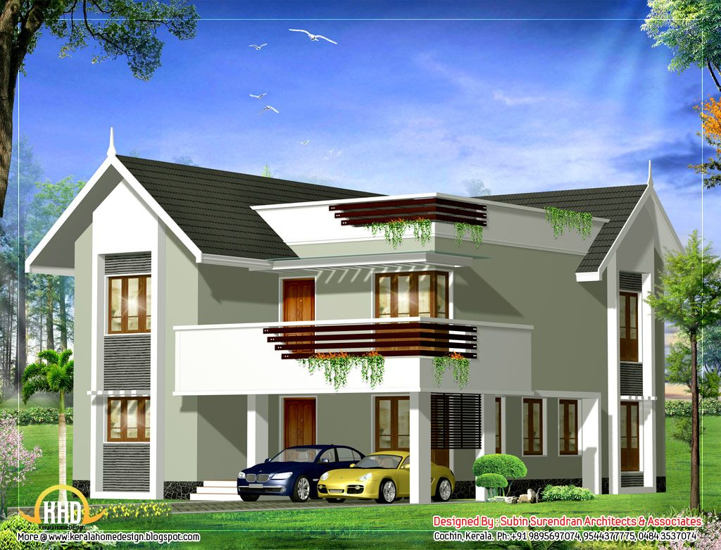 House elevation sq ft sq square yards story home elevation for Best duplex house plans in india