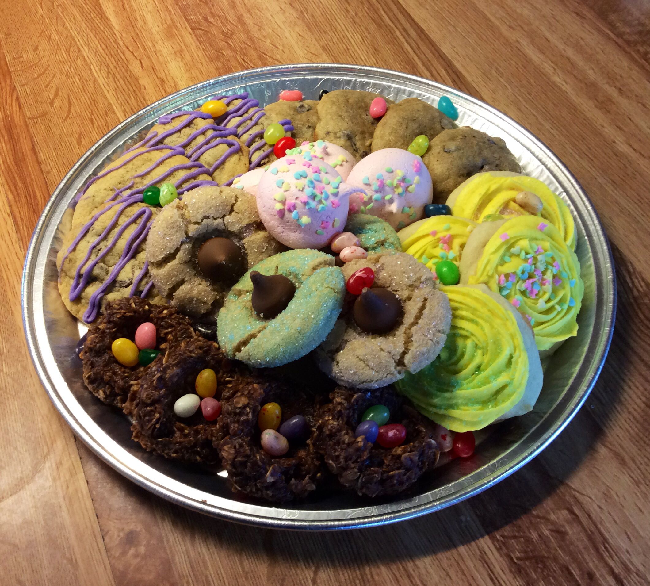 Easter/spring cookie tray...