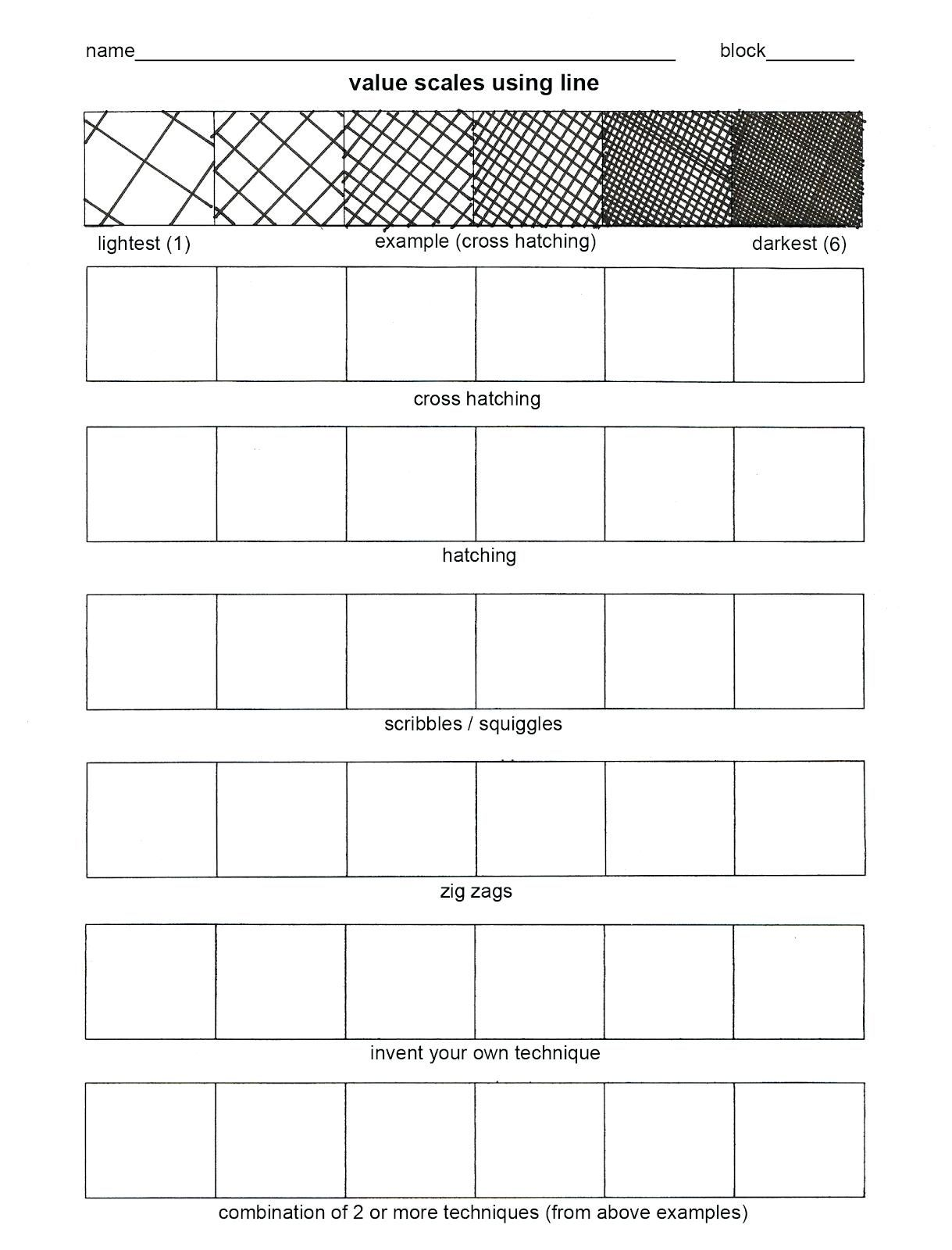 Worksheet Art Worksheets For Elementary Teaching A Value