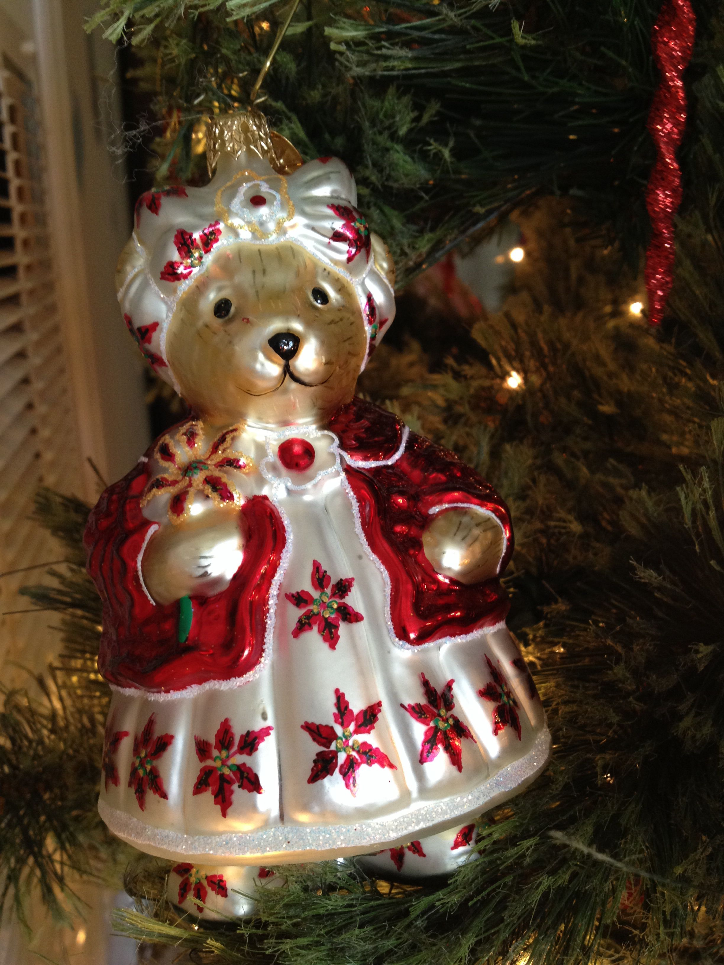 Radko christmas ornament muffy vanderbear quot picking