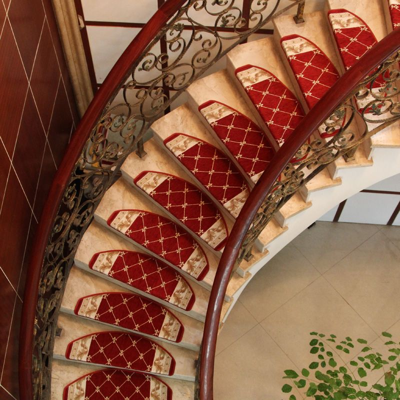 Best Keyama European Pastoral Style Acrylic Grid Carpet Stair 640 x 480