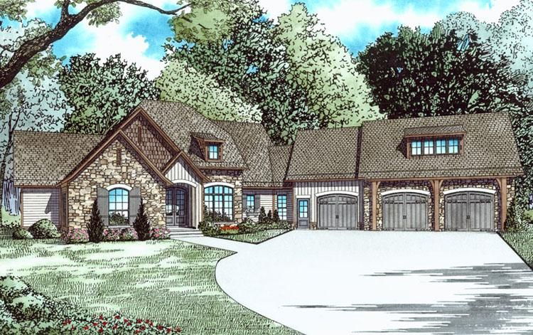 House Plan 110 01031 Lake Front Plan 4 264 Square Feet 4 Bedrooms 4 Bathrooms Lake Front House Plans Rustic House Plans Basement House Plans