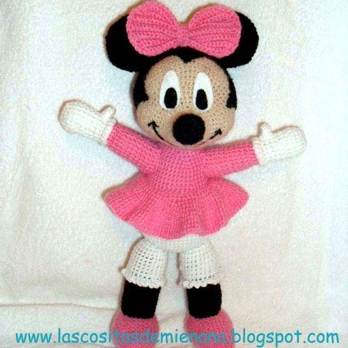 Patrón Minnie Mouse Amigurumi | italo | Pinterest | Häkeltiere, Süß ...