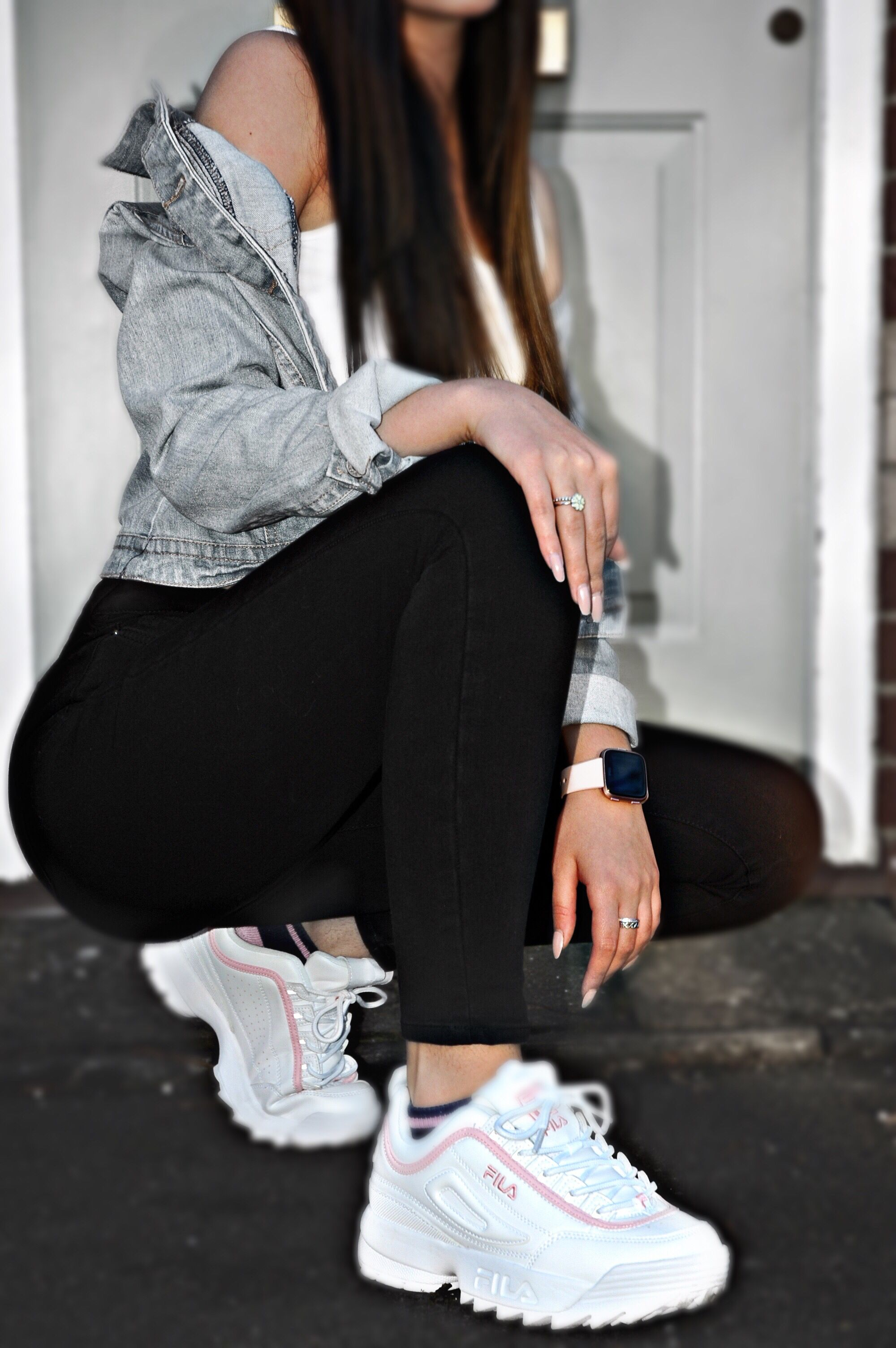 fila shoes with jeans