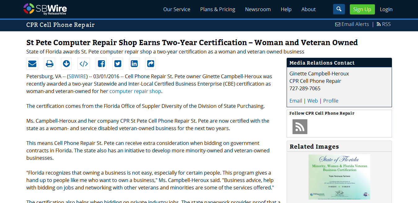 Httpsbwirepress releasesst pete computer repair shop httpsbwirepress releasesst pete computer repair shop earns two year certification woman and veteran owned 669081m cell phone repair st 1betcityfo Gallery