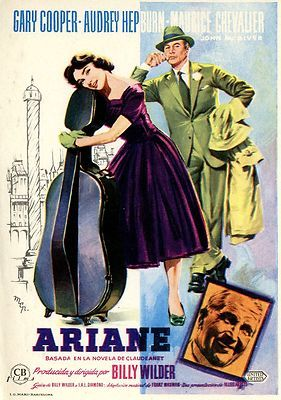 LOVE IN THE AFTERNOON 1957 AUDREY HEPBURN GARY COOPER
