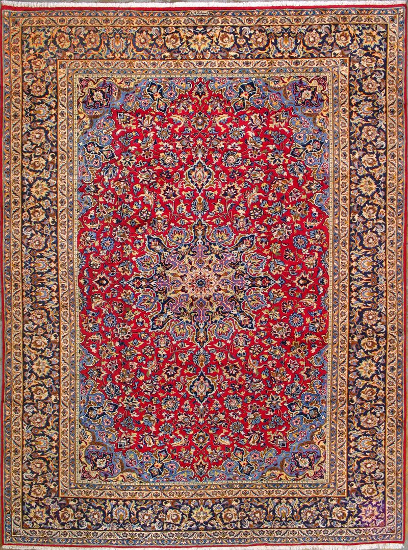 Buy Esfahan Persian Rug 9 39 8 Quot X 13 39 1 Quot Authentic Esfahan Handmade Rug Rugs Hand Knotted Persian Rug Persian Rug
