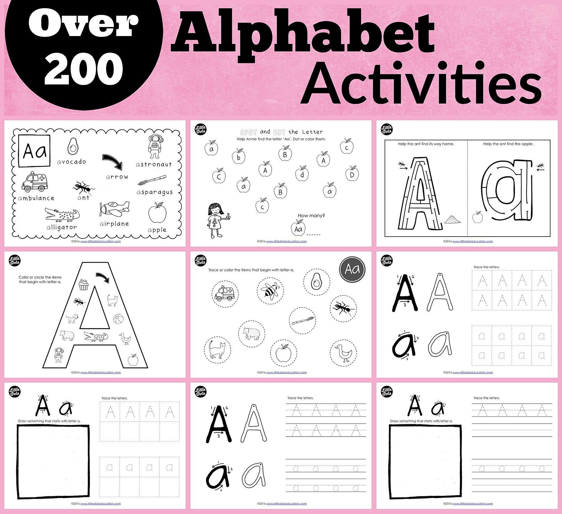 Preschool Alphabet Printables