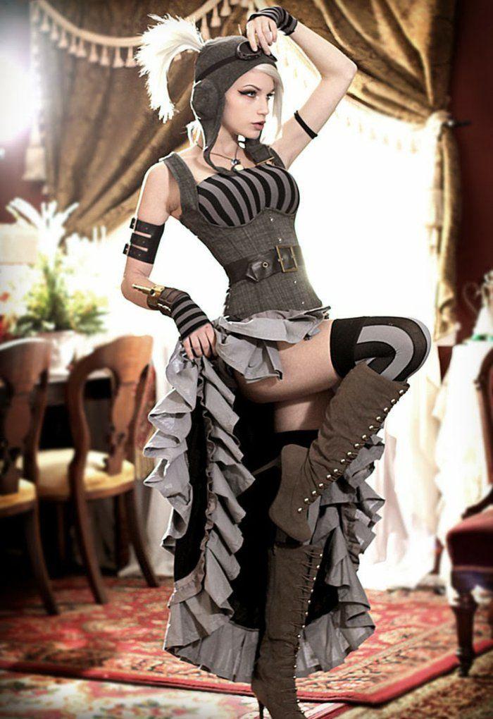 20 ausgefallene steampunk kleidung outfits viktorianisch. Black Bedroom Furniture Sets. Home Design Ideas