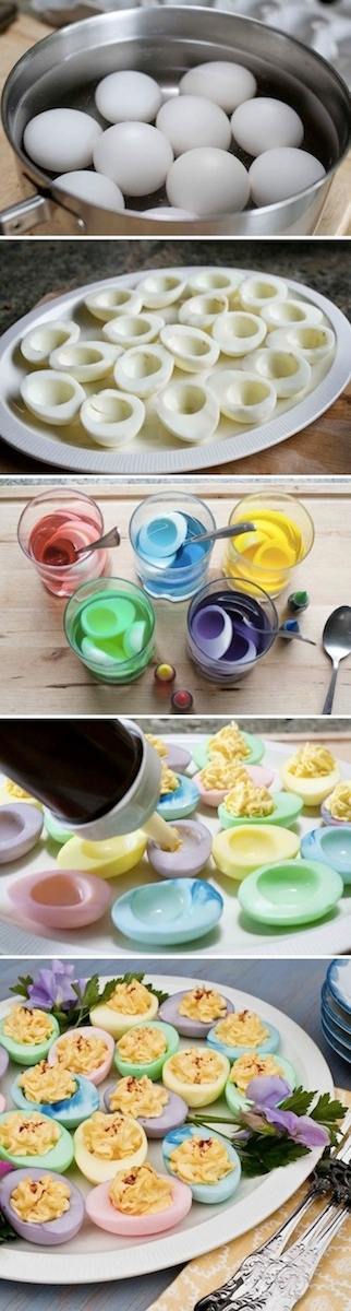 Add some pops of color to your everyday deviled egg recipe do this add some pops of color to your everyday deviled egg recipe do this only occasionally since food coloring may be harmful to your health forumfinder Choice Image