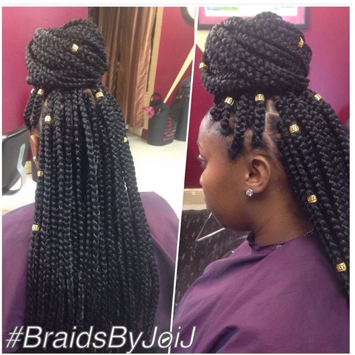 long medium box braids w hair jewelry box braids
