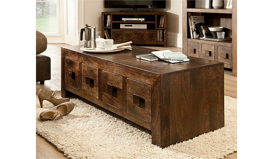 Buy Goa Coffee Table 4 Drawer From Our Coffee Side Tables