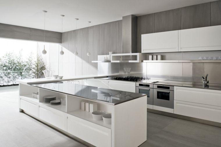 cocinas integrales blancas para el interior Interiores para cocina - Cocinas Integrales Blancas