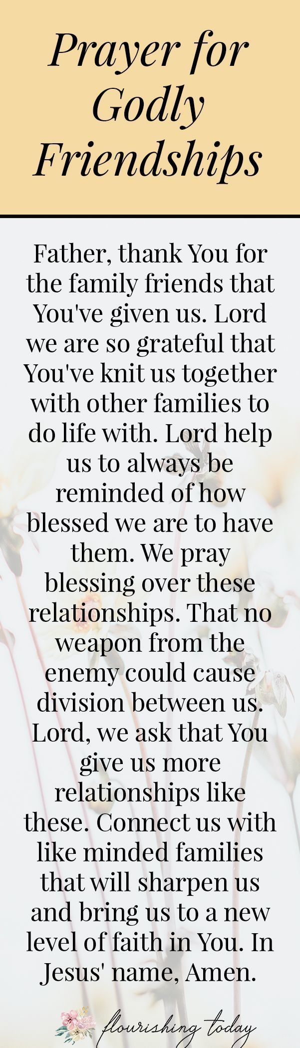 Do you pray specifically and strategically for your family every day? Many times we only pray for protection over our family or when they are going through hard times. However, there is power when we get intentional with our prayers every day. Here are 5 prayers based on bible verses for topics such as unity, friendships and having a heart for God. #prayer #prayers #family #intentionality #freeprintable