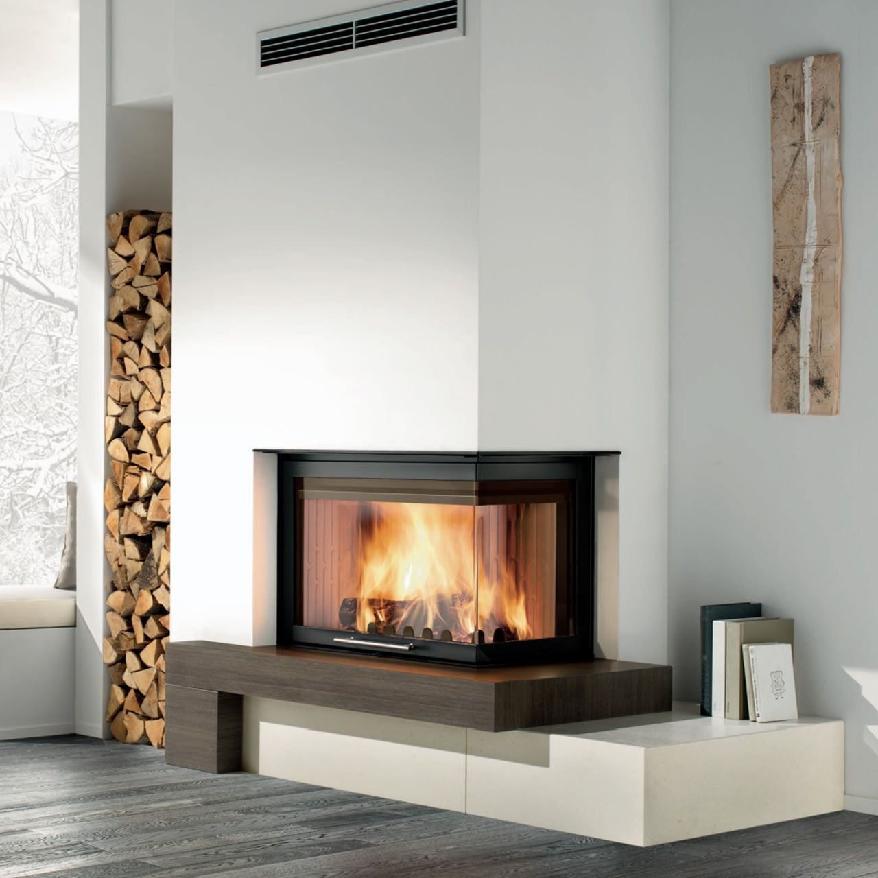 sleek freestanding fireplaces designed by malm freestanding