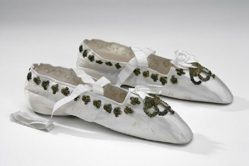 """""""Queen Desideria's coronation shoes, French, 1829. Livrustkammaren, Stockholm"""" The Royal Armoury."""