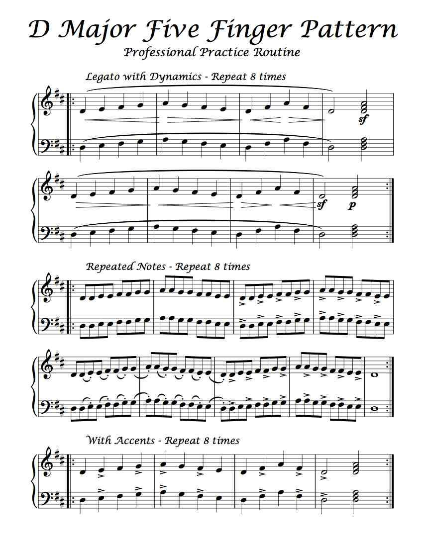 Free Sheet Music - Here is a Professional Practice Routine of D ...