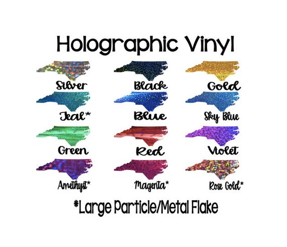 Holographic Metal Effect Vinyl Choose From 8 Colors Holographic Adhesive Vinyl 12x12 Sheets Perman Adhesive Vinyl Glitter Vinyl Holographic