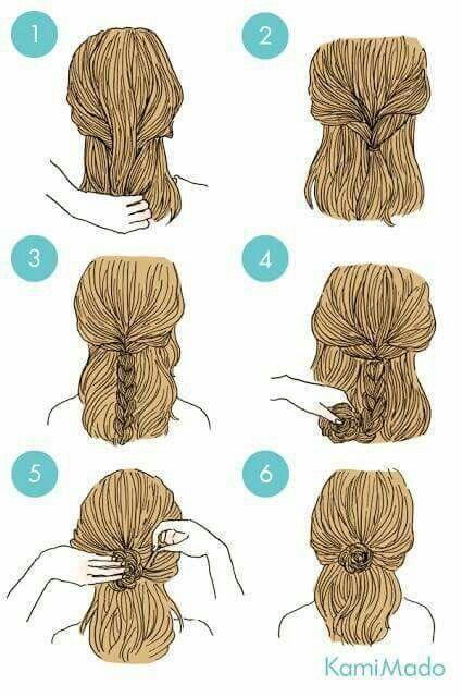 Peinado Facil Paso A Paso Con Imagenes Peinados Faciles Para Cabello Corto Peinados Bonitos Peinados Sencillos