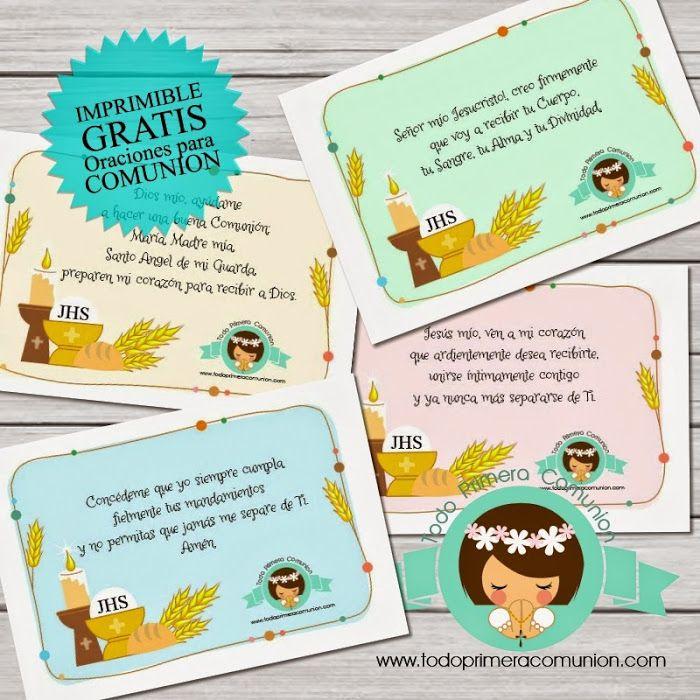 Imprimible Gratis Oraciones Comunion Frases Comunion