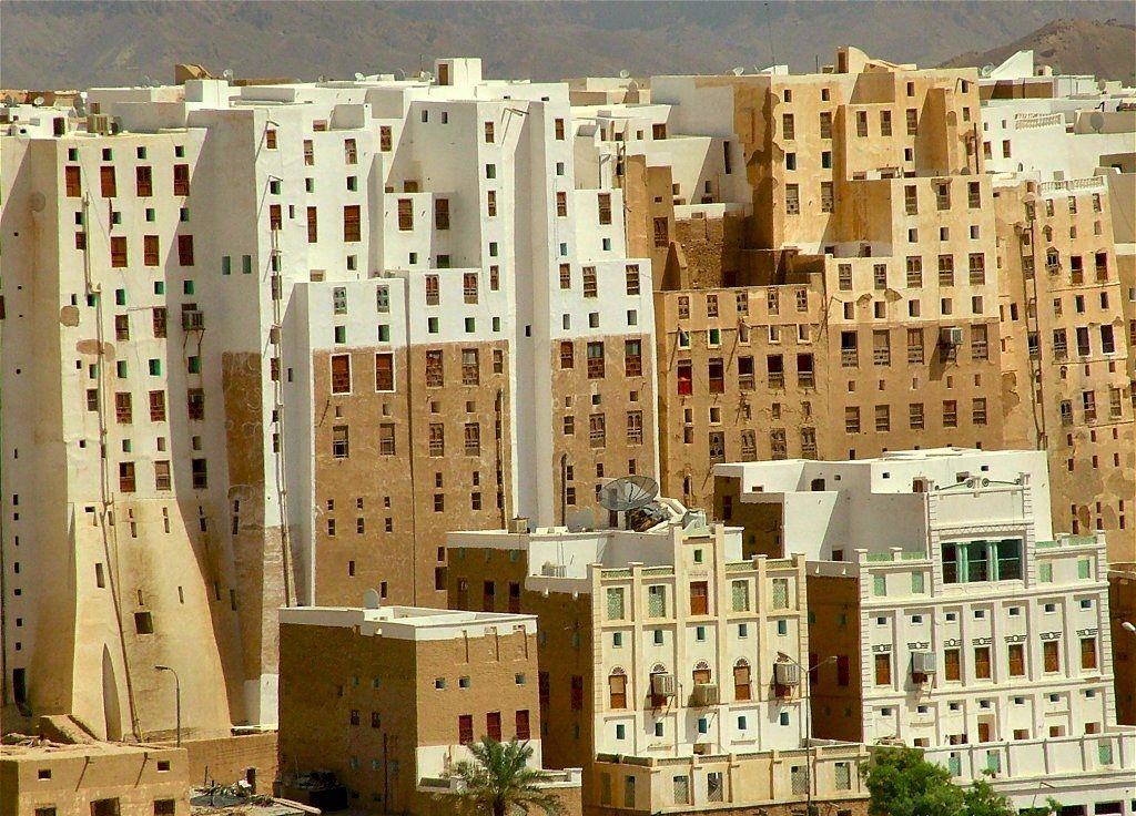 Shibam Yemen city 15 century !! only mud tower buildings 13 floors ...