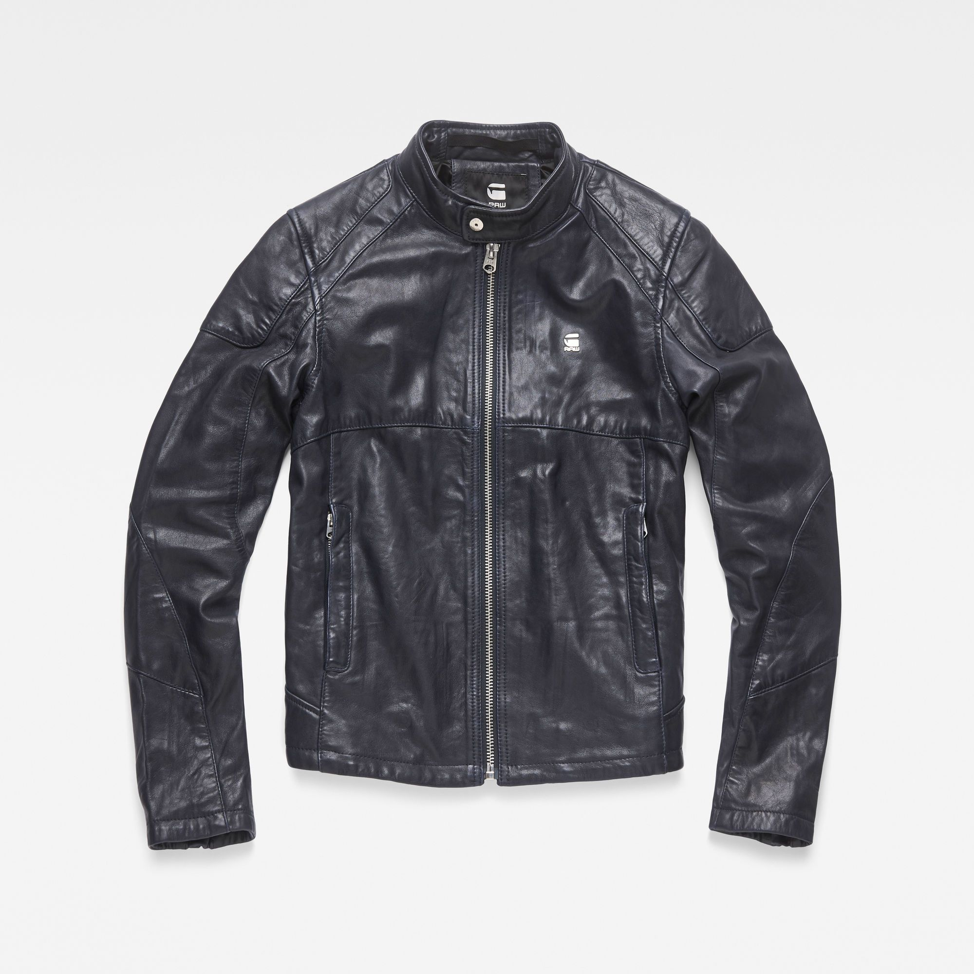 Motac O Biker Jacket Mazarine Blue G Star Raw Jackets Raw Clothing G Star [ 2000 x 2000 Pixel ]