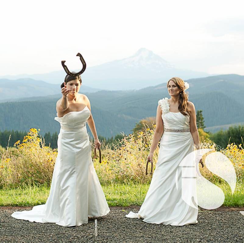 Wedding Lawn Games At Gorge Crest Vineyards