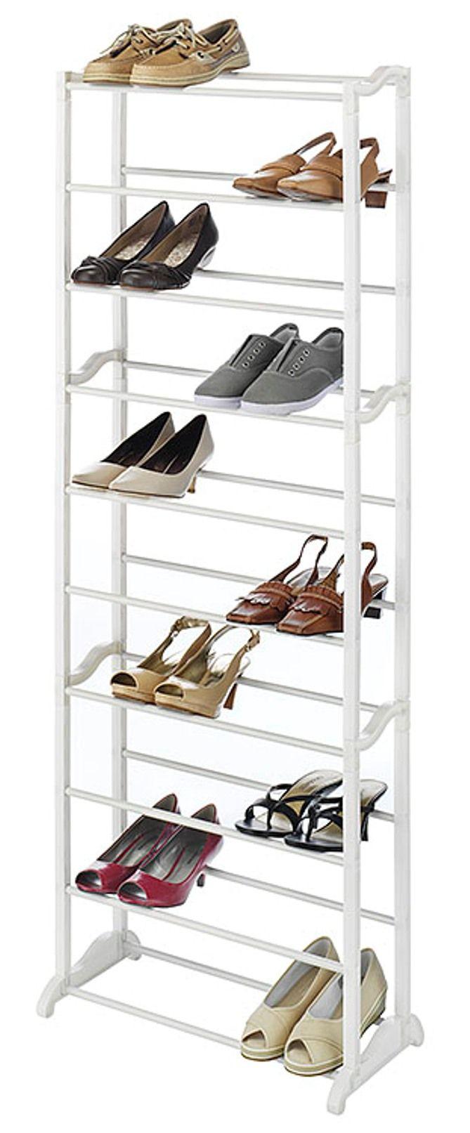 30 Pair Shoe Rack $9.99! - http://www.pinchingyourpennies.com/30 ...