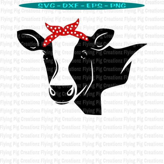 Cow svg, Cow with Bandana svg, Heifer Please svg, Show Cow