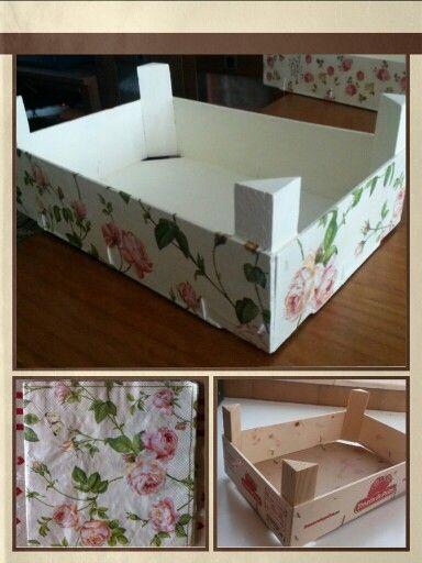 Wood box decorated with napkin caja de madera decorada - Decorar cajas de madera con servilletas ...