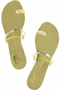 9c16ae2e96063 Giuseppe Zanotti Flat crystal ring sandals | My Style ...