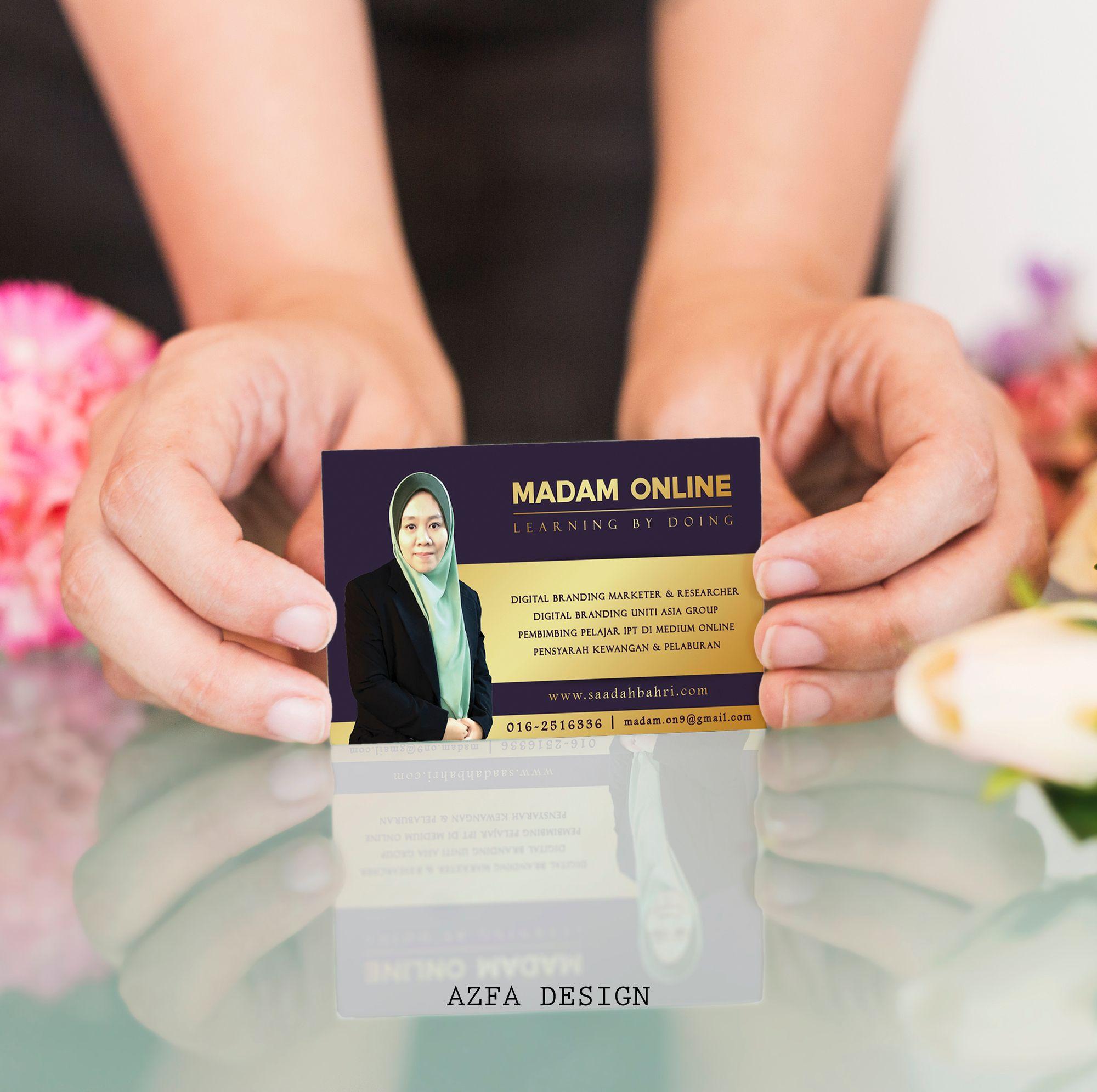 Businesscard Boleh Bagi Bisnes Kad Belum Ada Lagi Kenapa Perlu Ada Ha Name Cards Cards Whatsapp Message