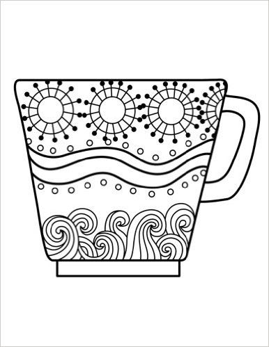 Amazon Com Blank Book Journal Cup Zentangle Cover Diary Notebook 8 5 X 11 Size 120 Gray Lined Pages Color The Cover Blank Book Book Journal Diary Notebook