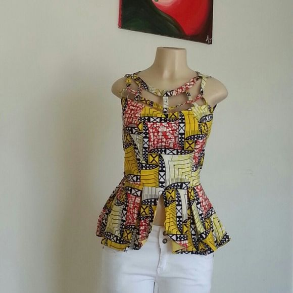 Beautiful Ankara Top This is a must have Ankara Top. Can be worn on jeans  Bust - 36-37' Length - 23-24' Waist - 36-37'  Like size 4-8 Tops