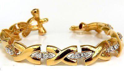 """2.50CT DIAMONDS RUBY TOGGLE """"X"""" LINK BRACELET 14KT G/VS : Lot 310"""